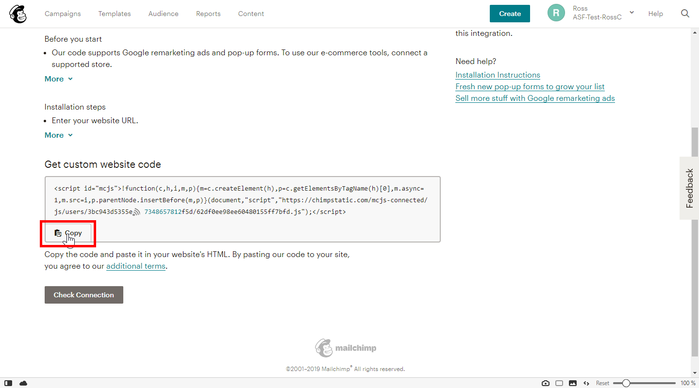 How To: Integrate and Verify Your Site with Mailchimp